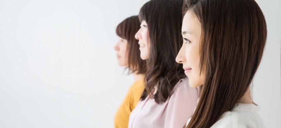 3人の女性の横顔