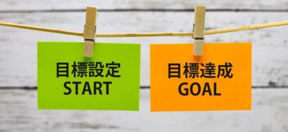 目標設定と目標達成の札